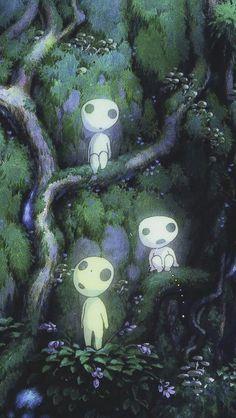 Princess Mononoke Luminous Tree Elves Spirit Kodam Jardin Miniature Idee art design landspacing to plant Studio Ghibli Films, Art Studio Ghibli, Studio Ghibli Tattoo, Princess Mononoke Poster, Princess Mononoke Wallpaper, Princess Mononoke Characters, Totoro, Princesse Mononoke Cosplay, Kodama Tattoo