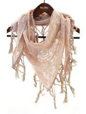 Esarfa roz cu franjuri/ Venetian Affair- spring collection 2013