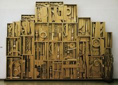 As one of our collage series, our project today is How to Make a Collage, and our guest artist is the American sculpture Louise Nevelson. - Art for kids Louise Nevelson, 3d Art Projects, Sculpture Projects, Sculpture Ideas, Modern Sculpture, Wood Sculpture, 3d Collage, Collage Ideas, Famous Sculptures