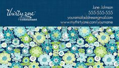 Best Buds Personalized Business Cards made for Thirty-One Gifts