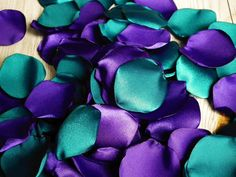 Hey, I found this really awesome Etsy listing at https://www.etsy.com/listing/258552764/teal-and-purple-satin-rose-petals-blend