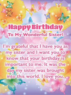 20 Best Birthday wishes for sister images in 2019 | Thoughts