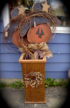 Fall Wood Crafts, Halloween Wood Crafts, Autumn Crafts, Fall Halloween, Halloween Decorations, Rustic Halloween, Fall Decorations, Primitive Fall, Primitive Crafts