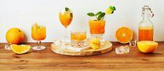 Aperol spritzistä värinsä lainannut mocktail maistuu mukavasti appelsiinilta ja kirpsakalta karpalolta. Hörpi jäiden kanssa! Noin 0,80 €/annos.