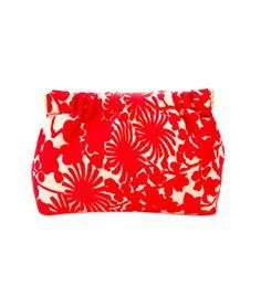 Chako Petite Dumpling Bag ($45) in Red Floral