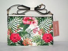 Franco Sarto Palm Paradise Crossbody w/Palm/Hibiscus Pattern Size Medium NWT Bags For Sale Online, Franco Sarto, Crossbody Shoulder Bag, Hibiscus, Palm, Paradise, Tropical, Tote Bag, Medium