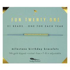 Fun Twenty-One! Birthday Beads Bracelet