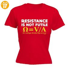 Fonfella Slogans Damen T-Shirt, Slogan Rot Rot Medium - Shirts mit spruch (*Partner-Link)