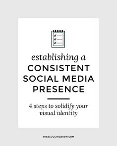 Maintaining consistency within your blog is one of the best ways to gain loyal followers and establish a visual identity for readers to remember you by. Post gr