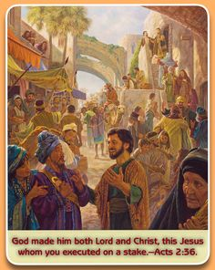 """Saturday, July30God made him both Lord and Christ, this Jesus whom you executed on a stake.—Acts 2:36.On the day of Pentecost, Peter told the Jews: """"Repent, and let each one of you be baptized in the name of Jesus Christ for forgiveness of your sins, and you will receive the free gift of the holy spirit."""" (Acts 2:22, 23, 37,38) That day, some 3,000 people were added to the new nation of spiritual Israel. (Acts 2:41) Afterward, the zealous preaching of the apostles continued to bear more…"""