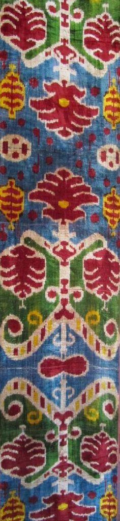 silk velvet fabric handmade ikat fabric alabahmal 1 yard by TEXTILEGALLERY, $33.45