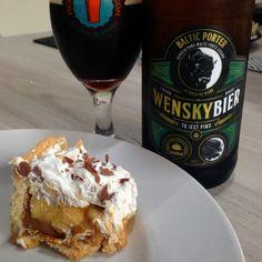 Torta Banoffi x Wensky Baltic Porter #cerveja #harmonizacao #beer #food #pairing