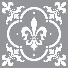 DecoArt Americana Decor Fleur de Lis Tile Stencil-ADS04-K - The Home Depot