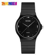 2018 New SKMEI Quartz Watch Fashion Casual Women Men Watch 30 Personality Creative PU Quality Strap Relogio Feminino Clocks 1421 From Touchy Style Outfit Accessories ( Silver ) All Black Watches, Cheap Watches For Men, Digital Wrist Watch, Fashion Watches, Women's Watches, Wrist Watches, Watch Sale, Quartz Watch, Simple