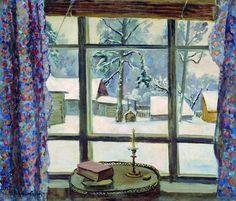 """Pyotr Konchalovsky """"La fenêtre du poète Oкно поэта"""" 1935"""