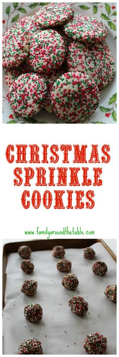 Christmas Sprinkle Cookies #ChristmasCookies • Family Around the Table