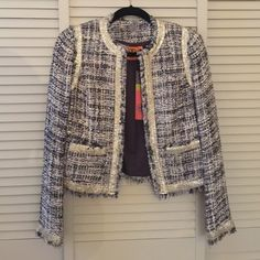 NWT Tory Burch jacket in 2 Beautiful jacket with metal sequin details Tory Burch Jackets & Coats