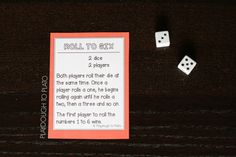 Roll to Six Dice Game