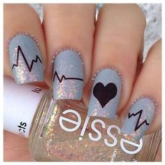 Just what the love doctor ordered. | 26 Ridiculously Sweet Valentines Day Nail Art Designs | See more at http://www.nailsss.com/french-nails/2/