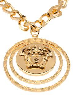 VERSACE - Medusa coin necklace