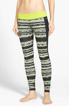 Nike 'Brush Stripe' Performance Leggings (UPF 40+)