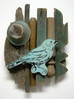 rescued wood art by Dolan Geiman