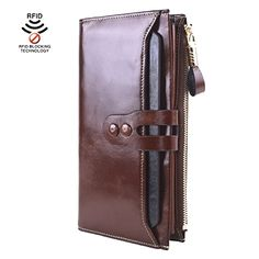 Lecxci Women Genuine Leather Large Checkbook, Zipper Multi Credit Cards Clutch Handbags Wallets for Women (Coffee RFID Blocking)  BUY NOW     $99.99    This is new  Lecxci  womens genuine leather clutch wallet. If you want to have such a multicard wallet case for cash and card  ..  http://www.welovefashion.top/2017/03/26/lecxci-women-genuine-leather-large-checkbook-zipper-multi-credit-cards-clutch-handbags-wallets-for-women-coffee-rfid-blocking/