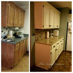 Cabinet Refinishing, Blue Song, Painting Cabinets, Custom Paint, Farmhouse Style, Painted Furniture, Kitchen Cabinets, Facebook, Creative