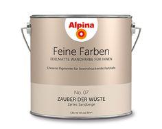 """Alpina Feine Farben """"Zauber der Wüste"""": Dieses zeitlose Sandbeige fasziniert mit seiner harmonisch puren Zartheit und dem fast greifbaren Eindruck von Geschmeidigkeit."""
