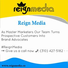 Reign Media specializes in expanding your business' growth through four central courses of action: ✓ Responsive Web Design ✓ Social Media Management ✓ Search Engine Marketing ✓ Search Engine Optimization Reach us through our website, www.reignmedia.co to see how Reign Media can best suit your needs. #ReignMedia #Reign #Media #ResponsiveWebDesign #SocialMediaManagement #SearchEngineMarketing