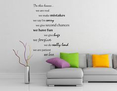 In this House We Do... wall sticker
