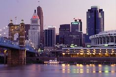 Cincinnati seriously has one of the loveliest skylines you'll ever encounter