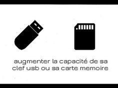 [tuto 1]Comment augmenter la capacité d'une clef usb ou carte mémoire - YouTube