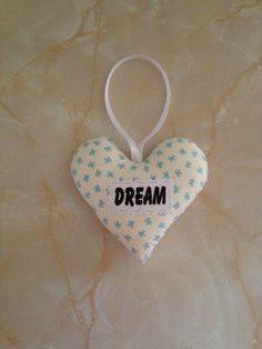 Dream heart, inspiration heart, padded heart, by AndiesAccessoriesUK on Etsy