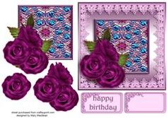 Purple Roses With Enamelled Panel