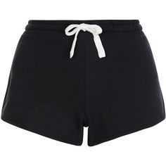 New Look Black Runner Shorts (190 MXN) ❤ liked on Polyvore featuring shorts, bottoms, short, black, mini short shorts, mini shorts, summer shorts, cotton shorts and short shorts