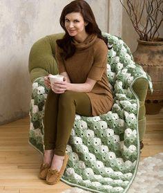 Crochet Twilight Shells Throw Free Pattern