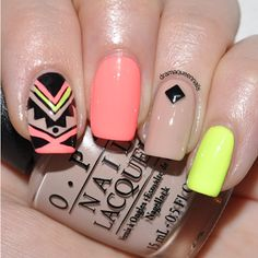 Drama Queen Nails: #31dc2013 - Day 16:Tribal Nails