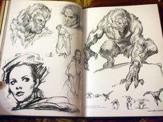 Sketchbook page by Iain McCaig Comic Books Art, Comic Art, Book Art, Sketchbook Inspiration, Art Sketchbook, Art Sketches, Art Drawings, Monochromatic Art, Copic