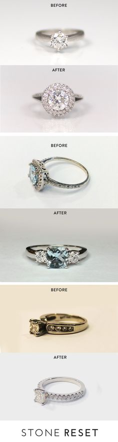 Secretly hate your engagement ring?  Upgrade your left hand with Stone Reset. Transform that ring into something you'll love.
