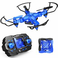 DROCON Mini Drone for Kids, Scouter Foldable Beginner drone with Altitude Flips/Self-Rotating/Headless Mode/One-Key Take-Off & Landing/One-Key Return/Speed Charge Ways Cool Gadgets On Amazon, Rc Drone With Camera, Ar Game, Drone Quadcopter, Drones, Cool Tech Gifts, Indoor Activities For Kids, Rc Helicopter, Fun Hobbies