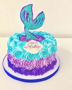 Mermaid Cake #pollmans 10th Birthday Cakes For Girls, 9th Birthday Cake, Mermaid Birthday Cakes, Mermaid Cakes, Birthday Celebration, Birthday Parties, Watermelon Birthday, Little Mermaid Parties, Girl Cakes