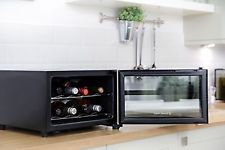 Wine Chiller Table Top Fridge 8 Bottle Cooler Beer Mini Bar Parties