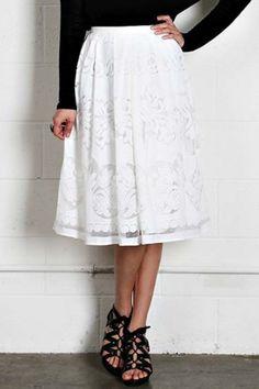 Livin' Lacey Midi Skirt