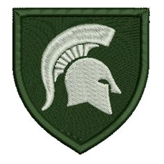 Michigan State Spartans Helmet Crest Embroidered Patch, $5.99. FREE SHIPPING!