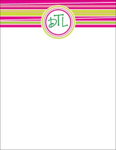 Personalized Notepads set of TWO Pink and Green Notepads