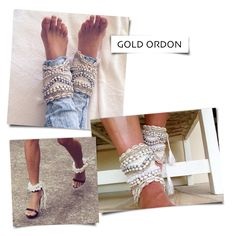 Statement Item : beaded cowrie shell ankle cuff