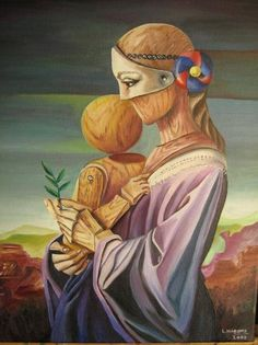 Madre metafísica by Luciana Marotta Salvador Dali Art, Surrealism Painting, Magic Realism, Impressionism Art, Surreal Art, Creative Art, My Drawings, Amazing Art, Modern Art
