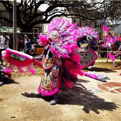 Mardi Gras Indians on Super Sunday 2012
