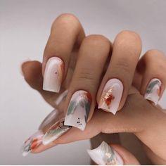Blush Nails, Neutral Nails, Almond Acrylic Nails, Fall Acrylic Nails, Stylish Nails, Trendy Nails, Nail Manicure, Toe Nails, Sassy Nails